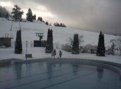 Schnee in Morschach (Bild: Webcam)