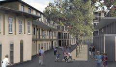 «Wohnpark Teiggi / Gemeindehaus-Areal» (Bild: Visualisierung PD)