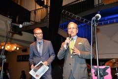 Jürg Weber, Leiter Regionalmedien NZZ (rechts), und Edi Lindegger, Leiter Werbemarkt.