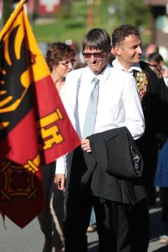 Karl Vogler, Obwaldner Nationalrat beim Festzug zum Festareal. (Bild: Roger Zbinden / Neue NZ)