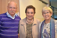 Erjassten den ersten bis dritten Platz: Edi Eichenberger, Rösi Portmann und Hedy Marti. (Bild: Claudia Surek)