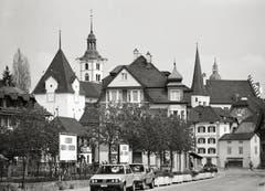 Sursee - Blick von der Centralstrasse auf die Altstadt Sursee von 1985. (Bild: Bruno Meier)