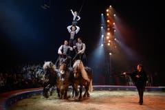 Chanel Marie Knie und die Brüder Errani (Bild: PD / Katja Stuppia, Circus Knie)