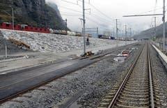 31.10.2013: Das Südportal des Basistunnels. (Bild: Keystone)