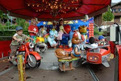 Seenachtsfest Lungern: Beliebtes Karussell (Bild: Robert Hess / Neue OZ)