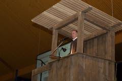 Aus Sicht der Dienststelle lawa, richtete Jadverwalter Dr. Peter Ulmann seine Worte an die Jägerschaft. (Bild: Ramona Meyer-Stöckli)