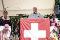 Johann Schneider-Ammann bei der Ansprache. (Bild: Pius Amrein / Neue LZ)