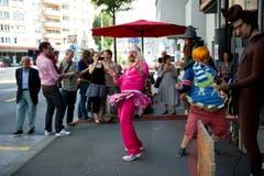 Kleintheater Luzern feiert sein Eröffnungsfest. Im Bild das Splätterlitheater bei der Probe (Bild: Corinne Glanzmann)