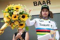 Peter Sagan gewinnt die «Baarer Etappe». (Bild: Keystone / Gian Ehrenzeller)