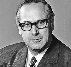 Hans Hürlimann (CVP), Kanton Zug, im Bundesrat von 1973 - 1982. (Bild: Archiv Neue LZ)