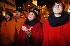 «Füür und Flamme» singen für Sandra Häfeli und Michael Häfeli. (Bild: Werner Schelbert / Neue ZZ)