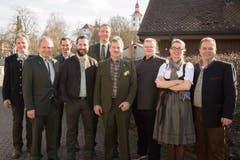 Die Fäälimärt-Kommission: (von links) Kilian Fischer, Tony Glanzmann, Daniel Mächler, Gregor Filipendin, Guido Roos, Toni Zemp, René Steiner, Judith Röthlin und Christoph Bucher. (Bild: Ramona Meyer-Stöckli)