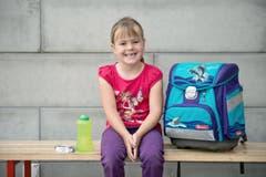 Eveline Burkard (6): «Ich freue mich, dass ich bald rechnen kann.» (Bild: Pius Amrein (Neue LZ))