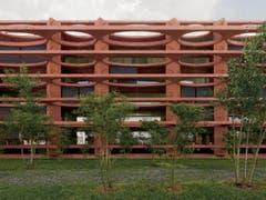 Wohnüberbauung Schleife, Zug - Valerio Olgiati, 2012. (Bild: Baudirektion Kanton Zug)