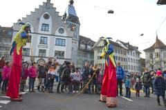 Die Zuger Altstadt verwandelte sich in eine Fabelwelt. (Bild: Maria Schmid / Neue ZZ)