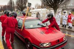 Racing Team Passerati mit dem Motto Volkswagen CO2-Skandal. (Bild: Boris Bürgisser / Neue LZ)