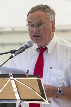 Festansprache von Jean-Francois Rime, Präsident des Schweizerischen Gewerbeverbandes und Nationalrat Kanton Freiburg, bei der 1. August Bundesfeier am Freitag, 1. August 2014, auf dem Rütli. (Bild: Keystone)