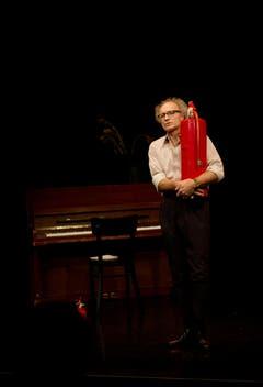 Das Kleintheater Luzern feiert sein Eröffnungsfest. Im Bild Jürg Kienberger bei der Probe. (Bild: Corinne Glanzmann)
