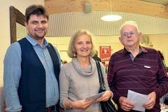 Hünenberg: V. l.: Peter Schmid, Beatrice Covaci und Alois Müller. (Bild: Claudia Surek)