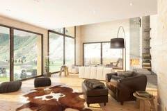 Wohnzimmer im Haus Gemse. (Bild: Visualisierung PD)
