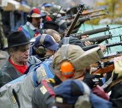 1152 Schützen sind am Mittwoch aufs Rütli gekommen. (Bild: Keystone)
