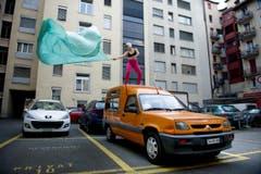 Kleintheater Luzern feiert sein Eröffnungsfest. Im Bild Denise Wintsch. (Bild: Corinne Glanzmann)