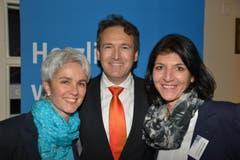 Von links: Cornelia Weibel, Daniel von Arx und Monika Mattmann von der Luzerner Kantonalbank AG.