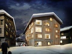 Das Haus Fuchs im Winter. (Bild: Visualisierung PD)