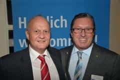 Heinz Bossert (links) und Franz Stalder, Detaillistenverband.
