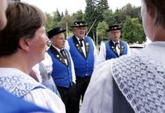 Es wurde auch gejodelt am Schwingfest. (Bild: Werner Schelbert (Neue ZZ))