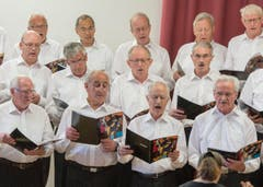Der Maennerchor Concordia Willisau bei seinem Auftritt am Innerschweizer Gesangsfest vom Sonntag. (Bild: URS FLUEELER)