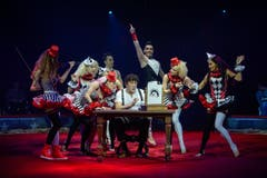 Clown David Larible aus Italien mit Crew. (Bild: PD / Katja Stuppia, Circus Knie)
