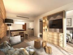 Ein Blick in die neuen Zimmer des zweiten Sawiris-Hotels in Andermatt. (Bild: PD)