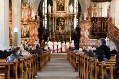 Die Eritreer sind mittlerweile die grösste Gruppe aussereuropäischer Migranten in Luzern. Zum ersten Mal feierte eine Pfarrei der Zentralschweiz einen gemeinsamen Gottesdienst mit einer eritreisch-orthodoxen Exilgemeinde. (Bild: Dominique Huwyler)