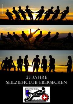 So präsentieren sich die Sportler des Seilziehclubs Ebersecken auf dem Cover ihres Kalenders. (Bild: Corinne Glanzmann)