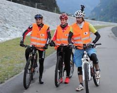 Reto Indergand, Linda Indergand und René Zimmermann (von links). (Bild: Urs Hanhart / Neue UZ)