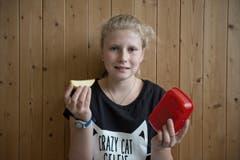 Tina Lustenberger (11): «Am Vormittag etwas Gesundes, am Nachmittag etwas Süsses.» (Bild: Pius Amrein (Neue LZ))