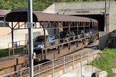 ... und den Autoverlad Furka (hier bei Realp) würde es den Furka-Tunnel laut Einschätzung einer Studie nicht mehr geben. (Bild: René Meier / Luzernerzeitung.ch)