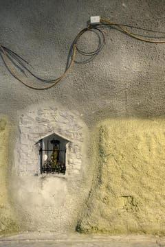 Die heilige Barbara im Gotthard-Basistunnel ist die Schutzpatronin der Tunnelbauer. (Bild: Keystone / Alexandra Wey)