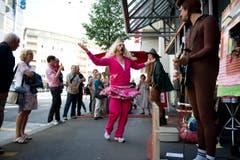 Kleintheater Luzern feiert sein Eröffnungsfest. Im Bild das Splätterlitheater bei der Probe. (Bild: Corinne Glanzmann)