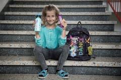 Alyssa Zürcher (8): «Ich habe mich gefreut, wieder in die Schule zu gehen.» (Bild: Pius Amrein (Neue LZ))