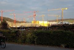 """Das """"goldene"""" Gebäude spiegelte die Morgensonne. (Bild: Birgit Lehner, Luzern)"""
