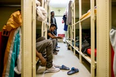 Blick in die Asyl-Notunterkunft. (Bild: Philipp Schmidli)