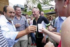 Kantonsratspräsident Moritz Schmid war auch dabei. (Bild: Werner Schelbert (Neue ZZ))