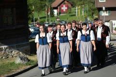 Der Jodlerklub Flüeli-Ranft. (Bild: Roger Zbinden / Neue NZ)