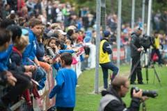Viele junge Fans auf der Hertiallemd. (Bild: Maria Schmid)