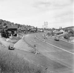Die Autobahn eingangs Horw kurz vor der Eröffnung ... (Bild: KEYSTONE/PHOTOPRESS-ARCHIV/Hermann Schmidli)