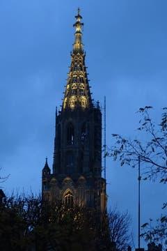Bern am Abend. Das Berner Münster mit Beleuchtung. (Bild: Bruno Ringgenberg)