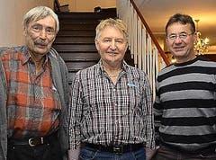 1.–3. Rang: Alois Müller (Mitte), Willy Albisser und Bruno Scheidegger (links). (Bild: Claudia Surek)