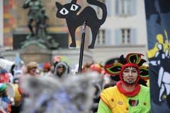 Der Umzug begann am Rathausplatz. (Bild: Urs Hanhart (Neue UZ))